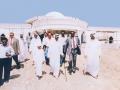 معالي الشيخ نهيان مبارك آل نهيان يراقب عملية الإنشاء في كليات الشارقة
